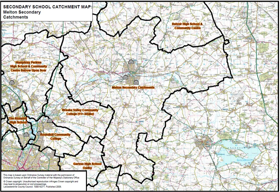 catchment map